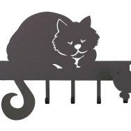 Portachiavi-Romeo-Arti-e-Mestieri-a-forma-di-gatto-nero